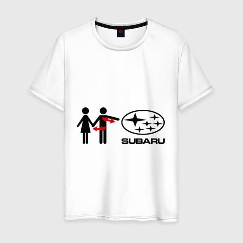 Мужская футболка хлопок I love subaru
