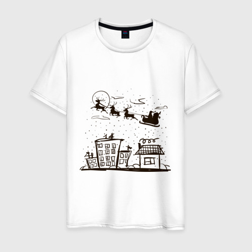 Мужская футболка хлопок Санта