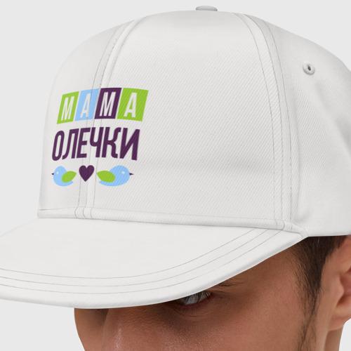 Кепка снепбек с прямым козырьком Мама Олечки