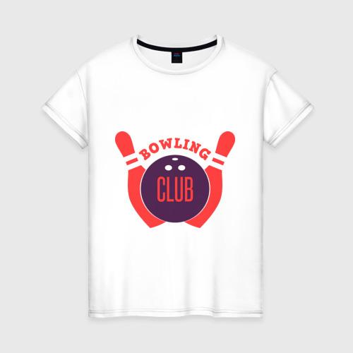 Женская футболка хлопок Боулинг