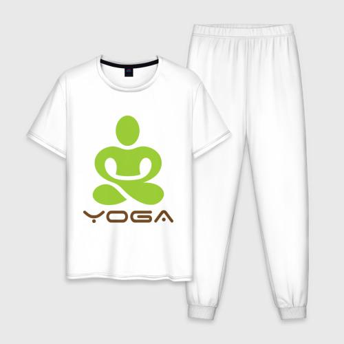 Мужская пижама хлопок Йога - это здоровье