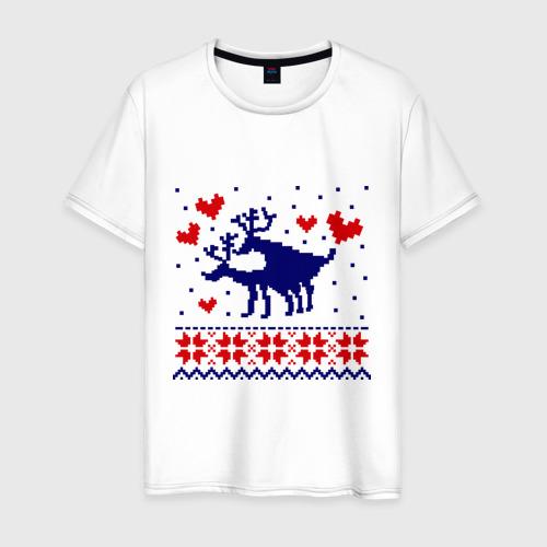 Мужская футболка хлопок Любовь оленей