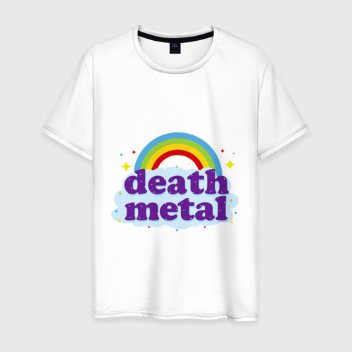Мужская футболка хлопок Rainbow death metal