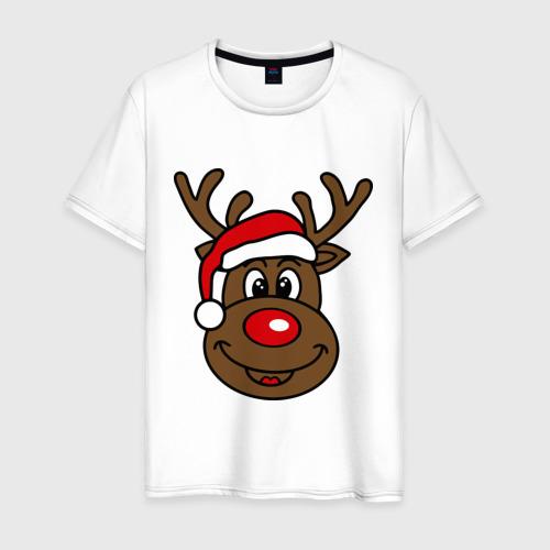 Мужская футболка хлопок Рождественский олень