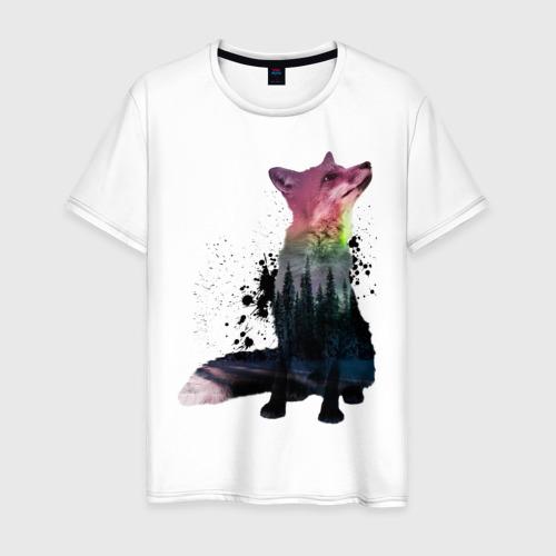 Мужская футболка хлопок Лиса