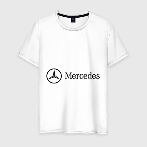 Мужская футболка хлопок Mercedes Logo
