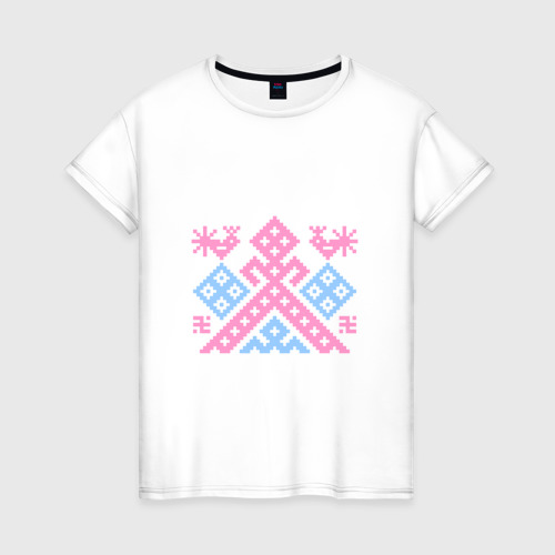 Женская футболка хлопок Рожаница Оберег для беременных