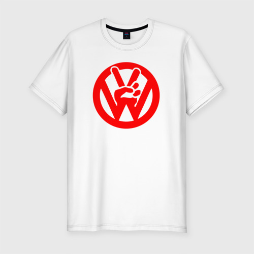 Мужская футболка хлопок Slim vw peace