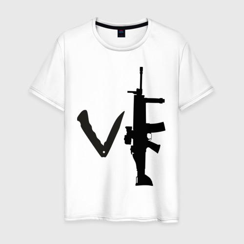 Мужская футболка хлопок Love guns