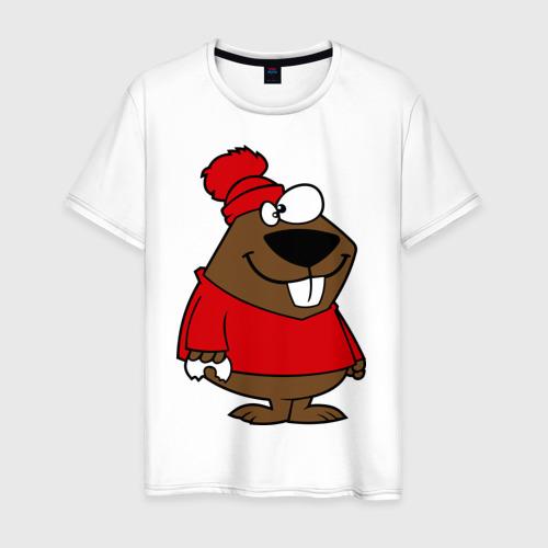 Мужская футболка хлопок Бобер