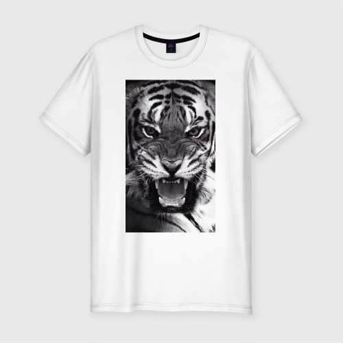 Мужская футболка хлопок Slim Тигр