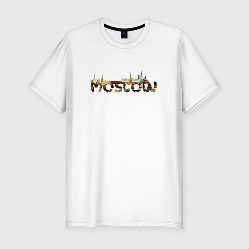 Мужская футболка хлопок Slim Кремль