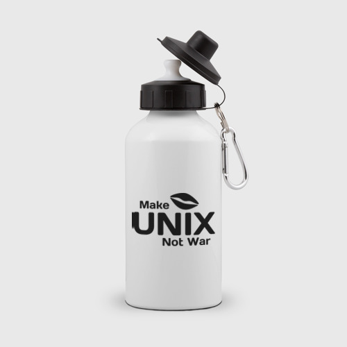 Бутылка спортивная Make unix, not war