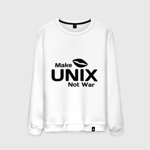 Мужской свитшот хлопок Make unix, not war