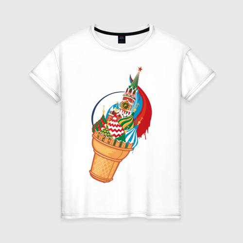 Женская футболка хлопок Кремль