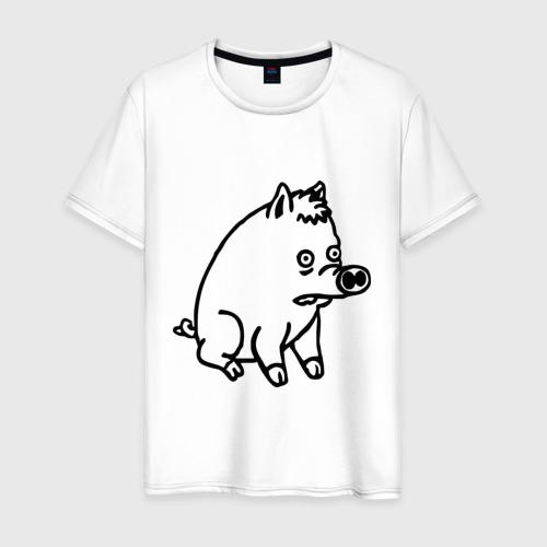 Мужская футболка хлопок pig