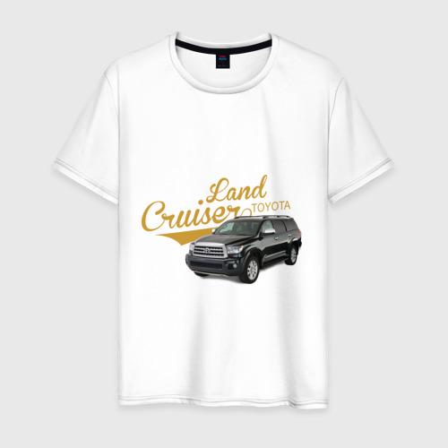 Мужская футболка хлопок Toyota Land Cruiser
