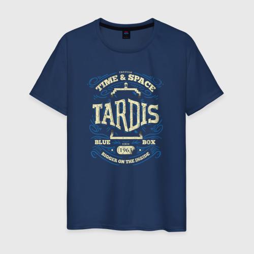 Мужская футболка хлопок Тардис - время и космос