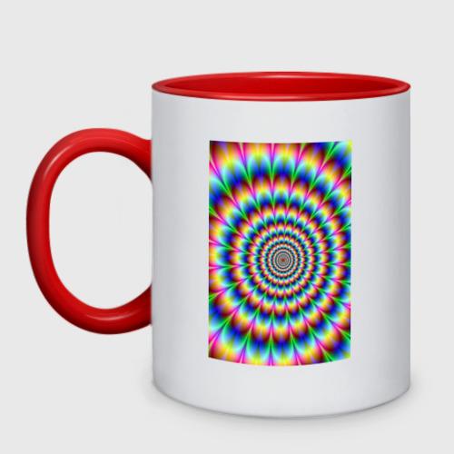 Кружка двухцветная гипно