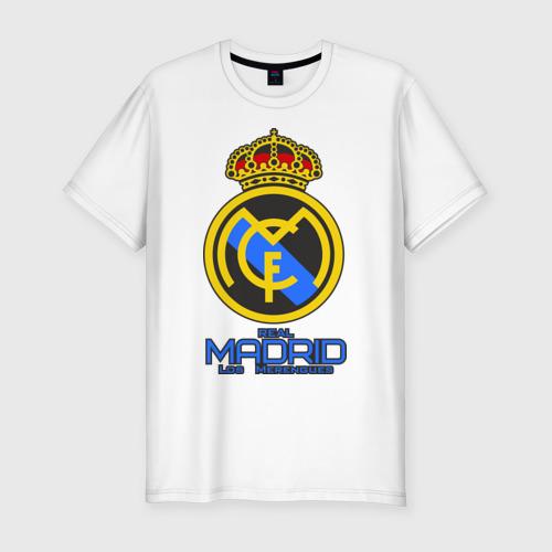 Мужская футболка хлопок Slim Реал Мадрид