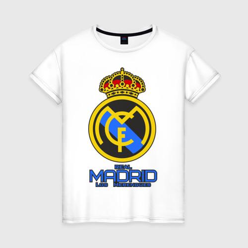 Женская футболка хлопок Реал Мадрид