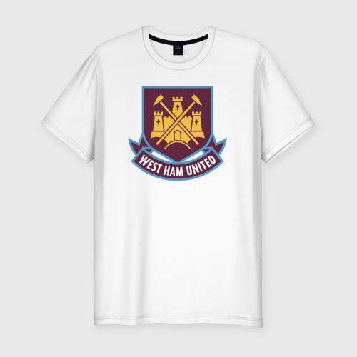 Мужская футболка хлопок Slim Вест Хэм, BPL, West Ham
