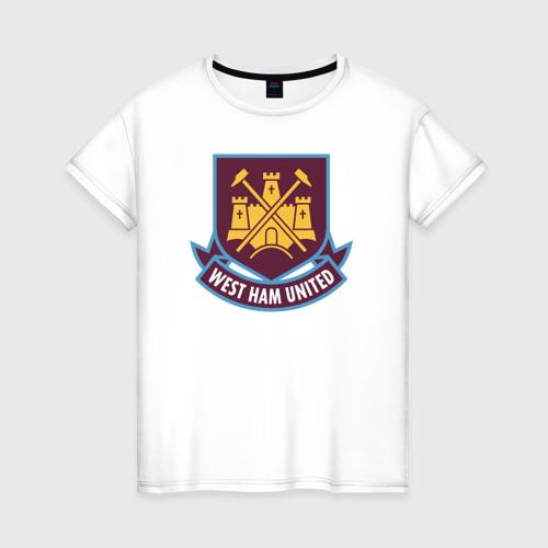 Женская футболка хлопок Вест Хэм, BPL, West Ham