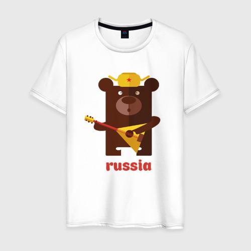 Мужская футболка хлопок Russia