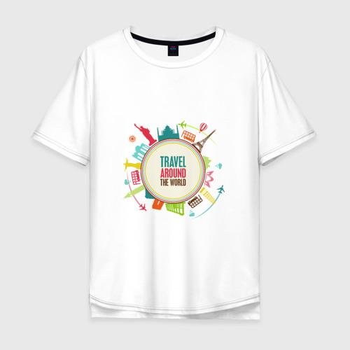 Мужская футболка хлопок Oversize Travel