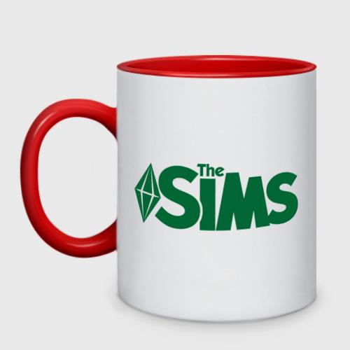 Кружка двухцветная Sims