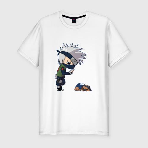 Мужская футболка хлопок Slim Какаши