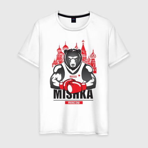 Мужская футболка хлопок Мишка