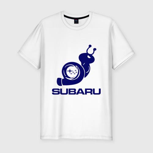 Мужская футболка хлопок Slim Subaru
