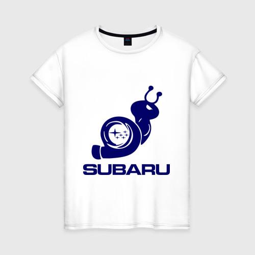 Женская футболка хлопок Subaru