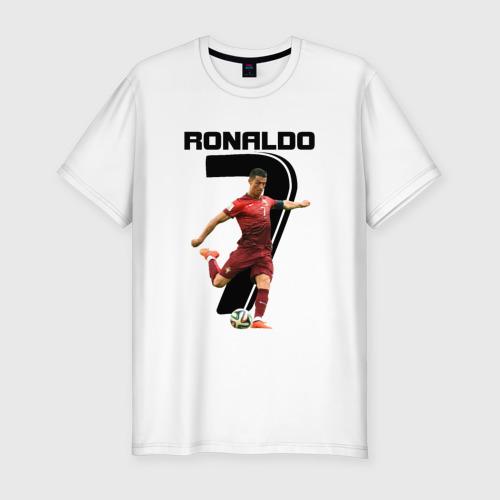 Мужская футболка хлопок Slim Ronaldo
