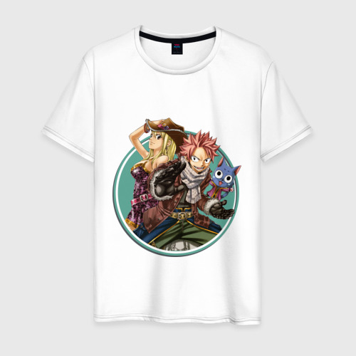 Мужская футболка хлопок Натсу и Люси