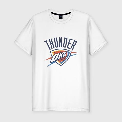Мужская футболка хлопок Slim NBA OKLAHOMA THUNDER OKC