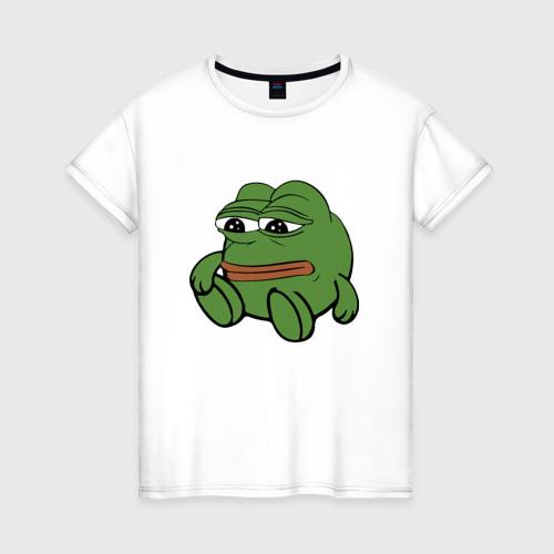 Женская футболка хлопок Грустняш