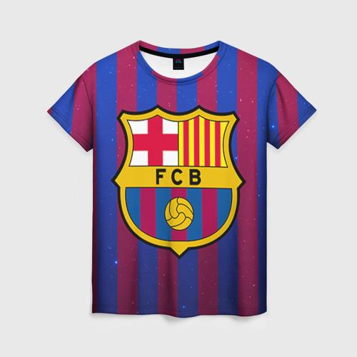 Женская футболка 3D Барселона