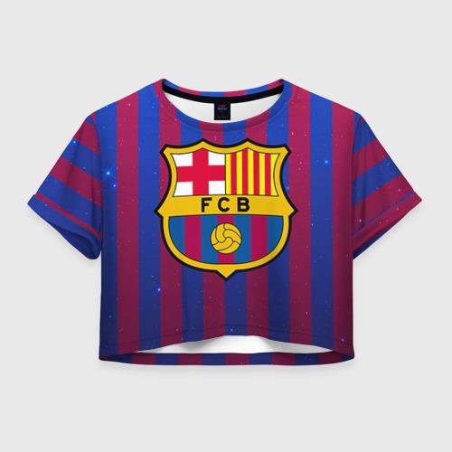 Женская футболка Crop-top 3D Барселона
