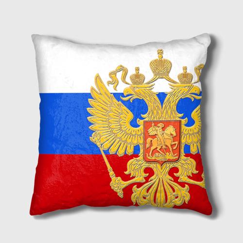 Подушка 3D Флаг и герб РФ