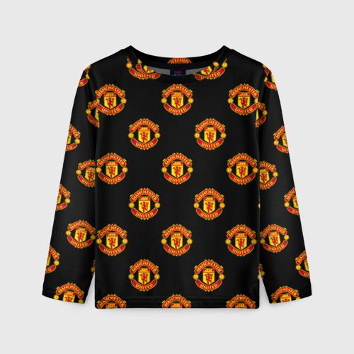 Детский лонгслив 3D Manchester United
