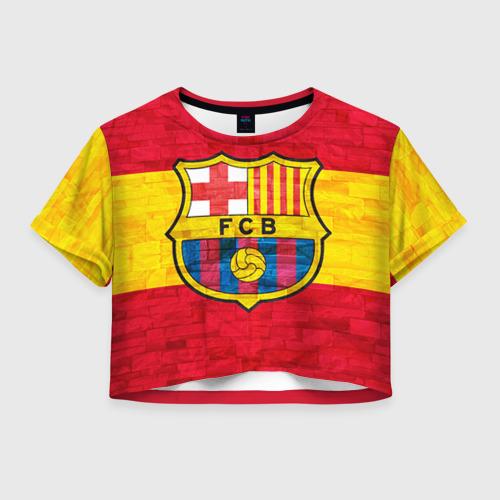 Женская футболка Crop-top 3D Barcelona