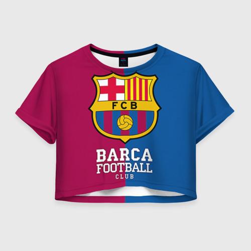 Женская футболка Crop-top 3D Barca