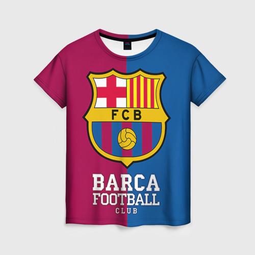 Женская футболка 3D Barca