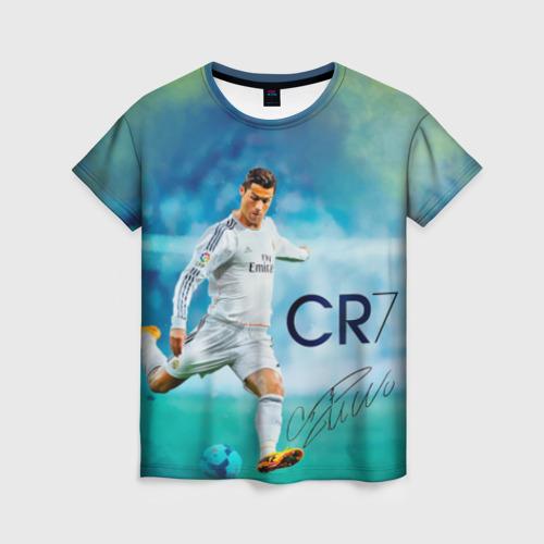 Женская футболка 3D Ronaldo