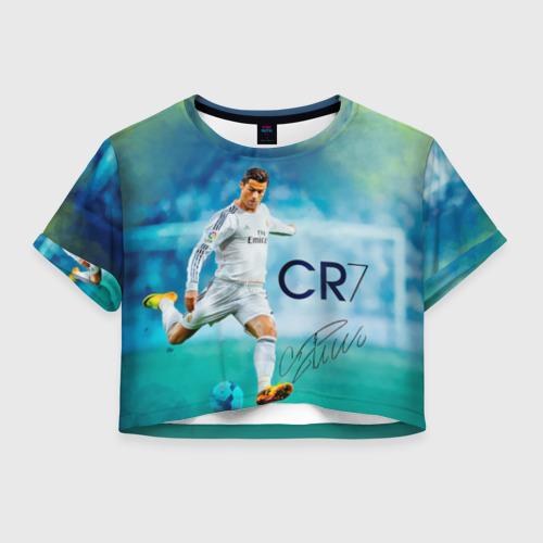 Женская футболка Crop-top 3D Ronaldo
