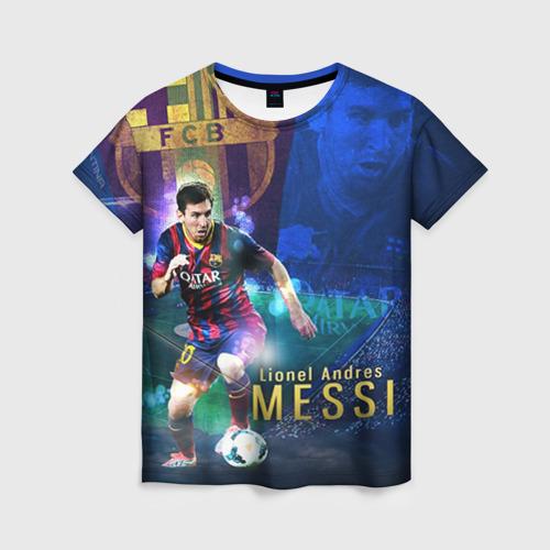 Женская футболка 3D Messi