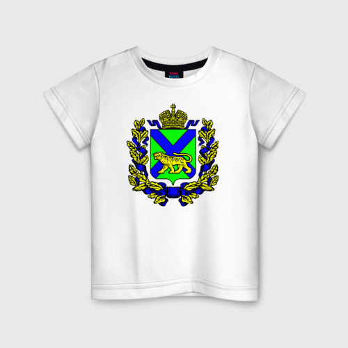 Детская футболка хлопок Герб Приморского края