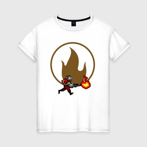 Женская футболка хлопок Pyro